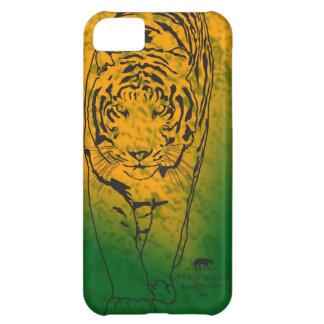 Naranja/verde del caso del iPhone 5 de la plantill