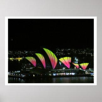 naranja vivo de la ópera de Sydney Posters
