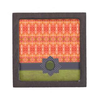 Naranja vivo y verde cajas de regalo de calidad