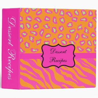 Naranja y álbum rosado fucsia del personalizado de