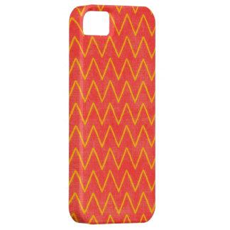 Naranja y amarillo Chevron del zigzag iPhone 5 Carcasa