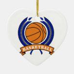 naranja y azul del emblema del laurel del balonces