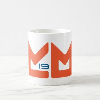 Naranja y azul del logotipo tazas de café