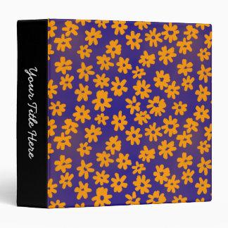 "Naranja y azul florales del estilo del batik (el carpeta 1 1/2"""