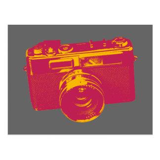 Naranja y diseño retro rojo de la cámara