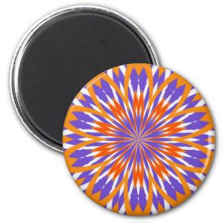 Naranja y extracto púrpura imán redondo 5 cm
