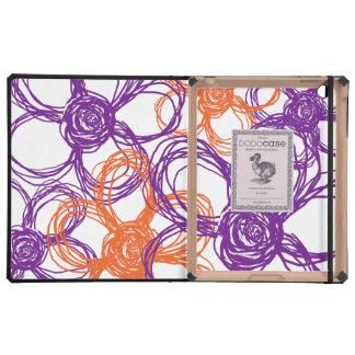 Naranja y flores salvajes púrpuras iPad cobertura