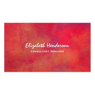 Naranja y fondo abstracto pintado rojo tarjetas de visita