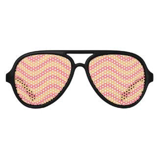 naranja y gafas de sol rojas del fiesta de la onda