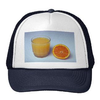 Naranja y jugo deliciosos gorro