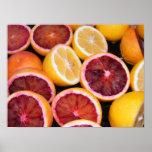 Naranja y limones de sangre impresiones