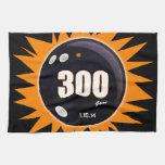 Naranja y negro de 300 juegos toalla de mano