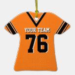 Naranja y negro del jersey del fútbol ornamentos de reyes