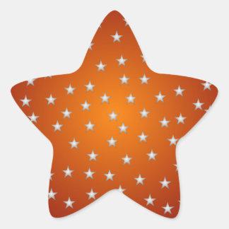 Naranja y pegatina de la estrella del blanco