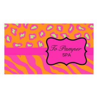 Naranja y personalizado rosado fucsia de la piel tarjetas de visita