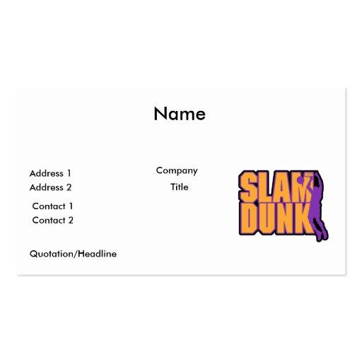 naranja y púrpura del texto de la clavada tarjetas de visita