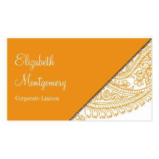 Naranja y tarjetas de visita profesionales de Oran