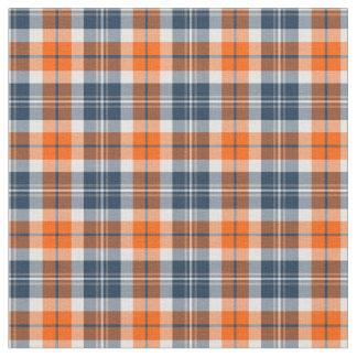 Naranja y tela escocesa deportiva azul telas