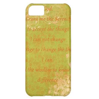 Naranja y verde del rezo de la serenidad funda para iPhone 5C