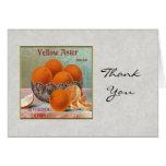 Naranjas amarillos de la marca del aster tarjeta
