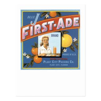 Naranjas azules de la marca de J Primer-Ade Tarjeta Postal