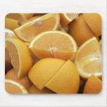 Naranjas, cuarteados alfombrillas de ratones