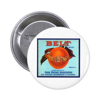 Naranjas de California de la marca de la correa Pin Redondo 5 Cm