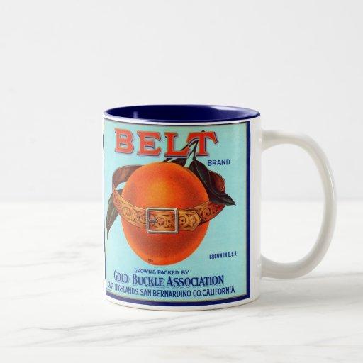 Naranjas de California de la marca de la correa Tazas