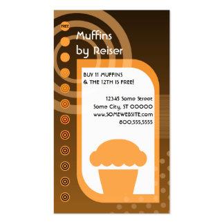 naranjas de la lealtad del mollete tarjetas de visita
