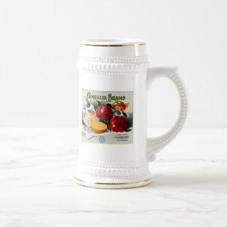 Naranjas de la marca de la camelia jarra de cerveza