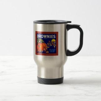 Naranjas de la marca de los brownie taza térmica