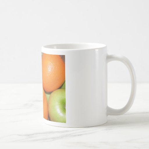 naranjas de las manzanas n taza básica blanca