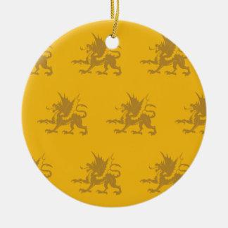 Naranjas de los dragones ornamento de navidad