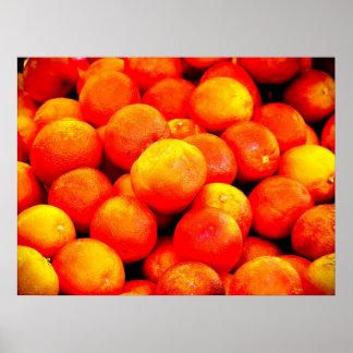 Naranjas de sangre póster