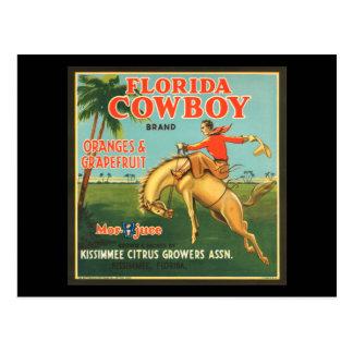 Naranjas del vaquero de la Florida y anuncio del Postal