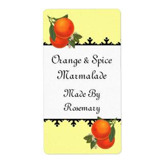 Naranjas del vintage que conservan o etiqueta del etiquetas de envío