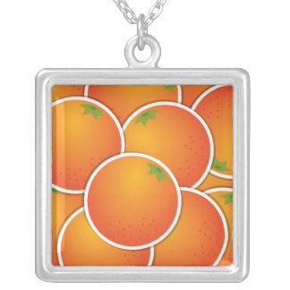 Naranjas enrrollados colgante cuadrado