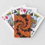 Naranjas espirales baraja cartas de poker