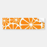 naranjas etiqueta de parachoque