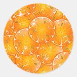 naranjas etiquetas redondas