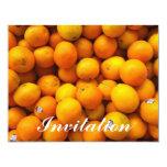 Naranjas frescos invitación 10,8 x 13,9 cm