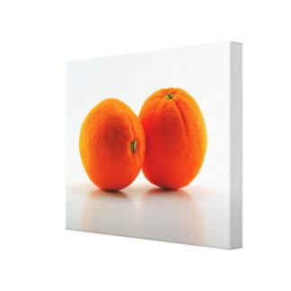Naranjas Impresión En Lienzo Estirada
