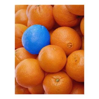 naranjas locos del chapoteo membrete
