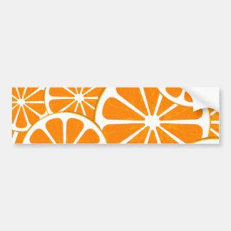 naranjas pegatina para auto