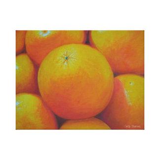 naranjas pintados aceite impresiones en lona estiradas