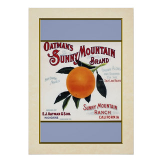 Naranjas soleados de la montaña de Oatmans Impresiones