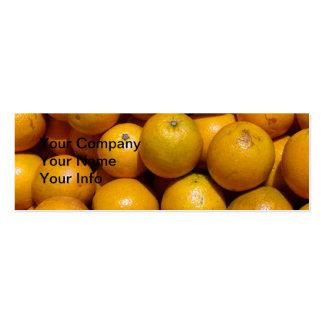 Naranjas Tarjeta De Visita