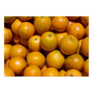 Naranjas Plantilla De Tarjeta De Visita