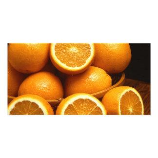 Naranjas Tarjeta Fotografica Personalizada