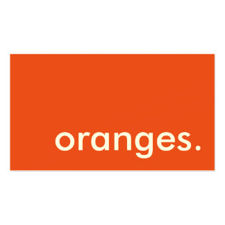 naranjas. tarjeta de sacador de la lealtad tarjetas de visita